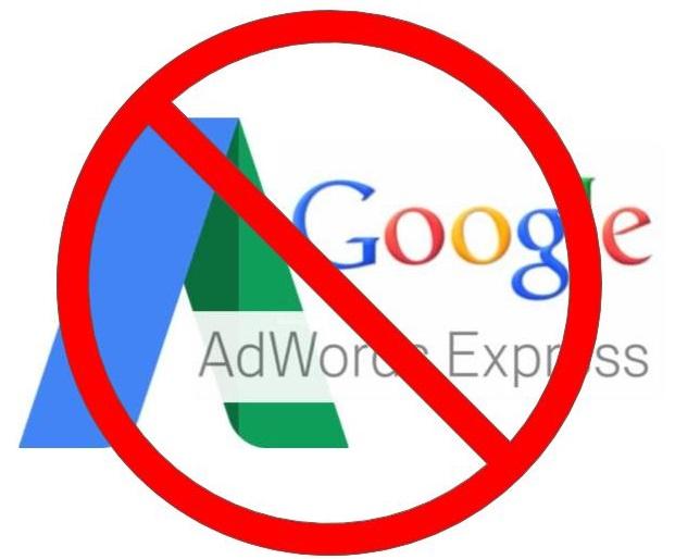 Stop Using Google Ad Express