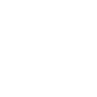 Business reporting icon in white